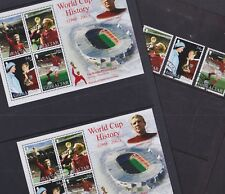 Gibraltar 2002 Used Mint MNH Set Minisheet Football World Cup History Moore Fund