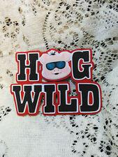Hog Wild Title paper piecing Premade Scrapbook Pages