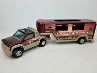 Vintage 1989 Nylint Circle Ranch Plastic Truck & Trailer Toy