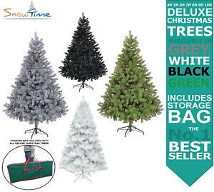 Deluxe Christmas Tree Green Grey White Colorado 4ft 5ft 6ft 7ft 8ft 9ft 10ft