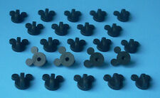 20 Quality Firm Gripping Disney Pin Trading Mickey Head Rubber Pin Backs