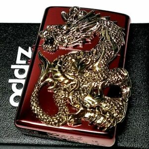 Dragon Metal Red Mirror Processing Onyx Limited Model Zippo Lighter Japan New
