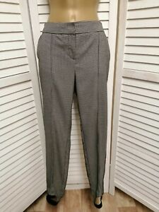 NEXT PETITE DOGTOOTH CHECK TROUSERS STIRRUPS SIZE 6 / 8