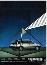 Publicité Advertising 1984 Honda Shuttle