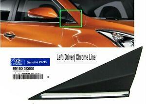 Mirror Fender Corner Trim Molding Left Cap Cover Triangle Delta Elantra 2014-16