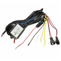Car DRL Daytime Running Light Dimmer Dimming Relay Control Switch Harness 12V Jf