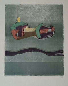 """Henry Moore """"Reclining Figures with Sea Background"""" Original Lithograph S/N"""