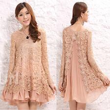New Maternity Dress Lace Chiffon Special Back Design Elegant Trendy 1024