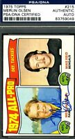 MERLIN OLSEN PSA/DNA AUTHENTICATED SIGNED 1975 TOPPS AUTOGRAPH