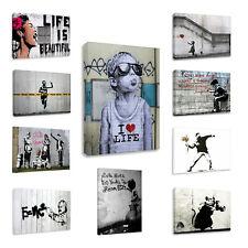 berühmt banksy wandbilder Kunstdruck Leinwandbilder xxl wandbild deko wohnzimmer