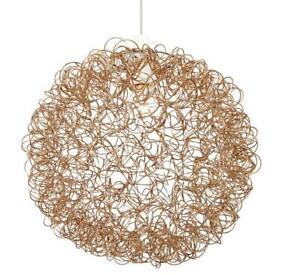 Milo Lighting Scribble Sphere Ceiling Pendant Shade Bronze 40cm