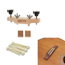 Practical Guitar Bridge Install Clamp with String Pegs for Luthier Tools