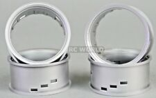 RC Car 1/10 DRIFT WHEELS RIMS Adjustable Offset  3mm-6mm-9mm -SILVER LIP 4 RINGS