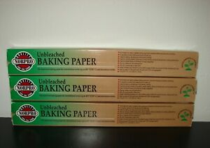 New Lot of 3 NorPro Unbleached Baking Paper 73 Sq Ft each Cooking