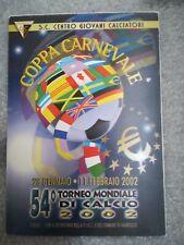 CARTOLINA VIAREGGIO 54 coppa CARNEVALE 2002 calcio football postcard Cup vintage