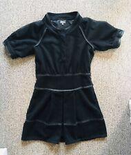 VINTAGE FIRETRAP BLACK FELT PANEL DRESS - UNIQUE - FULLY LINED - SIZE 10