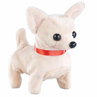 Laufendes Kuscheltier - Hund, Chihuahua Plüschtier mit Soundeffekt, Plüsch Hund