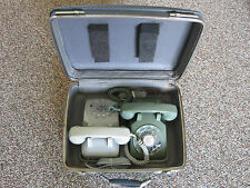 WESTERN ELECTRIC CLEAN TELETRAINER TELEPHONES WITH ORIGINAL CASE