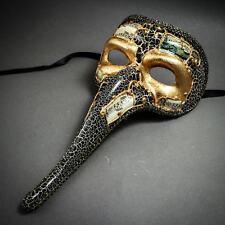 Vintage Zanni Mardi Gras Musical Long Nose Masquerade Venetian Full Face Masks