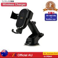 【HTL】 2in1 Wireless Car Charger Mount Phone Holder Fast Charger Air Vent&Suction
