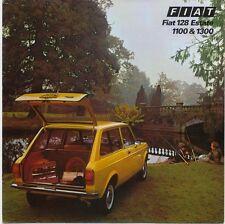 Fiat 128 Estate 1100 1300 1975-76 Original UK Sales Brochure