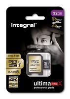 Fast 32GB microSDHC Class 10 UHS-I U3 95MB/s + Adapter. Ideal 4K, Full HD Video