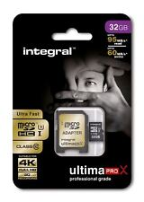 Fast 32gb Micro SDHC Clase 10 UHS-I U3 95mb / SEGUNDOS + Adaptador Perfecto 4k