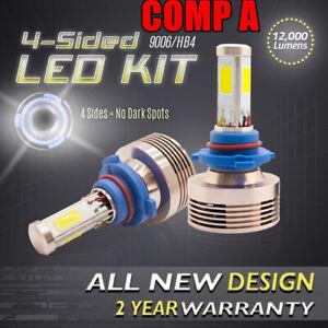 120W 12000LM LED 360 4-Sided Conversion Kit 6000K 6K Fog Light Bulbs - 9006 HB4