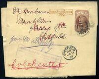 1887 ½d Newspaper Wrapper 'Gone No address/700' Sheffield EKU