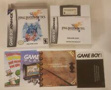 Final Fantasy Tactics Game Boy Advance Gba Nintendo Complete in Box Cib manual