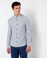 Remus Uomo Printed Slim Fit Shirt/blue - Large Ss18