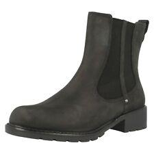 Clarks Orinoco Club Uk3 Slip On Black Chelsea Boots BNIB Eu 35.5 BRAND NEW