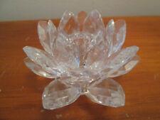 "Swarovski Crystal Water Lily Candle Holder item 11867 Max Schreck Design 3"" Mint"