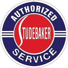 "Authorized Studebaker Service Sign round metal sign (rv 14""14"")"