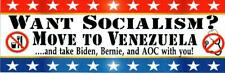 Reject Socialism - Anti Biden, Bernie, Aoc - Anti Democrat Bumper Sticker