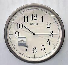 "SEIKO ""HESTOR"" 12.25"" ROUND  WALL CLOCK WITH QUIET SWEEP QXA636SLH"