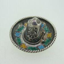 Hat Pin Brooch Sterling Silver Mexico Sombrero