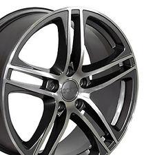 17x7.5 Rim Fits Audi - R8 Style Gunmetal Mach'd Face Wheel