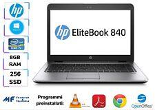 HP ELITEBOOK/NOTEBOOK 840G3 i5 8GB RAM 256GB SSD SMARTWORKING ULTRASOTTILE WIN10