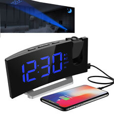 Mpow Projection LED Alarm Clock FM Radio Snooze Dimmable Night Light USB Charger