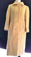 Buttery Yellow BONWIT TELLER 60s Vintage Wool Tweed Womens Winter Coat Medium