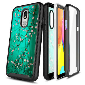 For LG Stylo 5/5V/5x/5 Plus Case Flower Phone Cover + Built-In Screen Protector