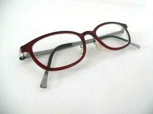 Lindberg Ace Titanium Blood Red/Pewter Oval Eye Glasses 025/888M 1504 46 17 135