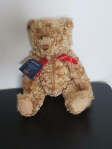 """HALLMARK TEDDY-TENNIAL 100TH ANNIV CURLY PLUSH JOINTED BEAR 13"""" NWT"""