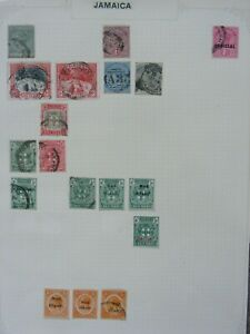 230 OLD JAMAICA STAMPS FROM ALBUMS INCL QV VICTORIA KEVII MINT & OVERPRINTS ETC