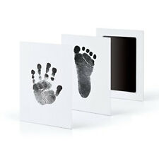 Newborn Baby Handprint Footprint Photo Frame Kit Clean Touch Ink Non-Toxic Pad