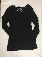 78631e9b Rock and Republic M Pullover Top Shirt Women's Black Long Sleeves