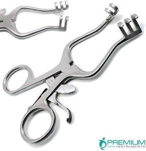 """Surgical Weitlaner Retractors 4.5"""" Blunt 3x2 Prongs Premium Instruments"""