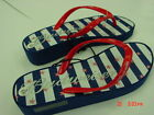 NWT Womens Budweiser Themed Patriotic Wedge Sandals Beer Party Summer Beach