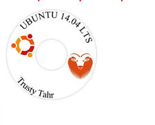 Ubuntu Linux 14.04 LTS 32 Bit Live Desktop DVD Install Disk Replace Windows XP V